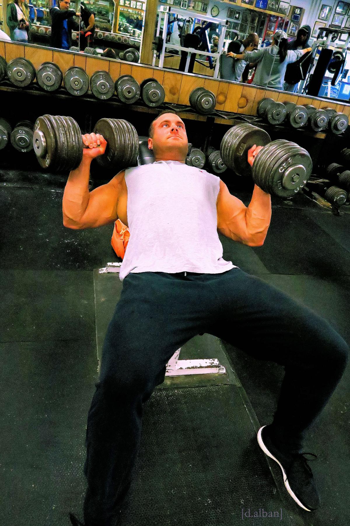 Dumbell Bench Press At Diamond Gym