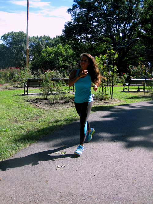 Christy Jogging In The Park As Part Of Her Exercise Routine