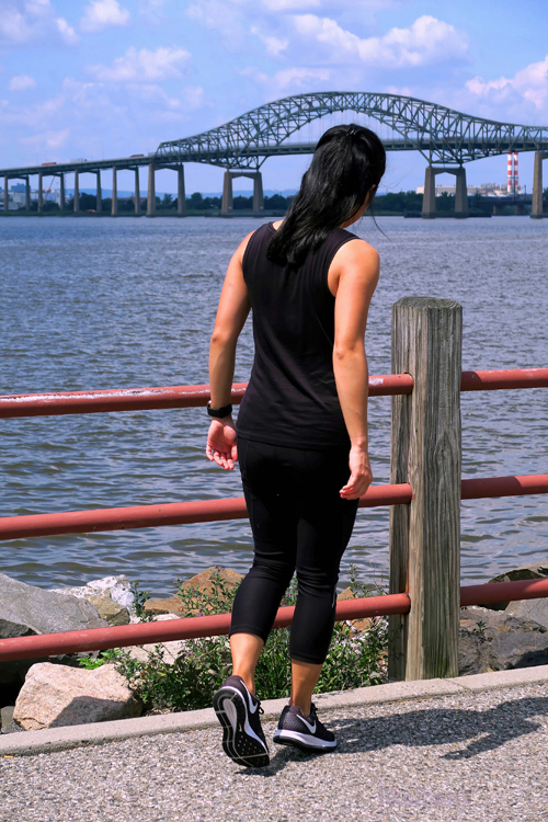 Krystelle Walking On The Boardwalk At The Bayonne Park
